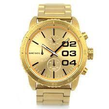 DIESEL Männer / Damenuhr DZ5302 Chronographen Franchise FRANCHISE Ruder Gold