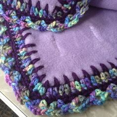 Crochet blanket edge-