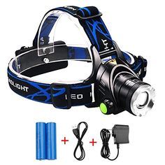 LED Headlamp Levin Zoomable LED Track Light 3 Modes Rechargeable Battery Powered Handsfree Perfect for Night Walk Riding Climbing Fishing Camping and Other Outdoor Sports ** Visit the image link more details.(This is an Amazon affiliate link and I receive a commission for the sales)