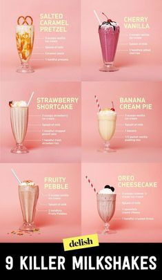 21 killer milkshakes that will rock your world - Starbucks tarifleri - Rezepte Easy Smoothie Recipes, Easy Smoothies, Smoothie Drinks, Dessert Recipes, Easter Recipes, Fruit Smoothies, Vegetable Smoothies, Diner Recipes, Jelly Recipes