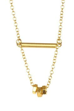 Hardware Charm Necklace on HauteLook.  Looks easy to make your own.