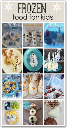 Frozen recipes: Great ideas for Frozen themed parties or just for fun meal times