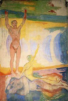 "artist-munch: ""Awakening Men by Edvard Munch Size: 455x305 cm Medium: oil on canvas"""