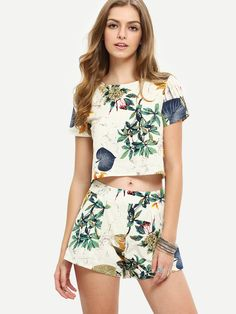 Shop Multicolor Short Sleeve Top With Shorts Suits online. SheIn offers Multicolor Short Sleeve Top With Shorts Suits & more to fit your fashionable needs.