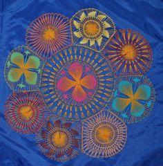 Colourful Nanduti with Yellow Base Threads