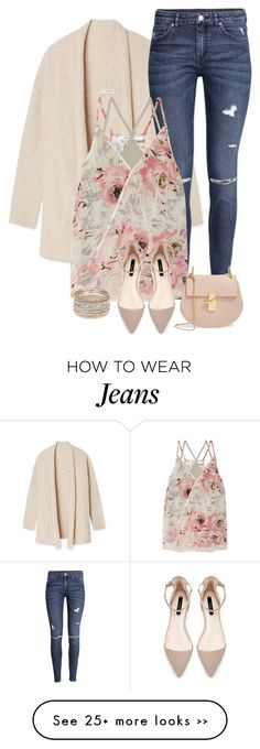 """pink"" by divacrafts on Polyvore featuring Tory Burch, H&M, Bailey 44, Chloé and Original"