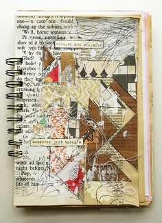 bałagan - art journal page by czekoczyna http://czekoczyna.blogspot.com/ http://www.flickr.com/photos/czeko/sets/72157625971081959/with/6369083613/ #mixed_media #collage