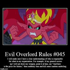100 handy-dandy Evil Overlord Rules. May the odds be forever in your favour! Now go and vanquish shit!! - Imgur
