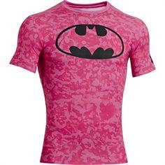 Under Armour Men's Alter Ego Batman Power in Pink Compression Shirt $44.99