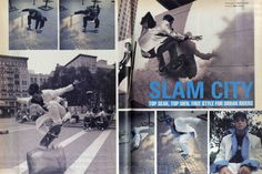 printed-page-aide-memoire:  slam city - top gear, top men. free style for urban riders 1/2davide sorrenti, styling havana laffittei-d, january 1996