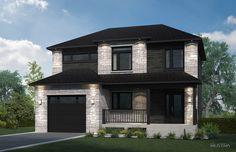 Plans de maison en 3D - Les Entreprises Lachance   wow !!!!! Modern Contemporary Homes, Dream House Exterior, Home Design Plans, Home Reno, Modern House Design, House Rooms, Custom Homes, Future House, Luxury Homes