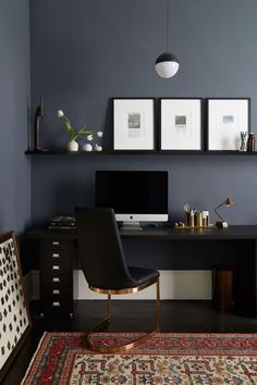 55 Awesome Home Office Design Ideas Make Improve Your Productivity, An office is easily the most vital thing for a person's degree of work ethic and productivity. Your home office may not really be the best situation t. Office Interior Design, Home Office Decor, Office Interiors, Office Designs, Room Interior, Home Office Paint Ideas, Creative Office Decor, Home Office Colors, Office Decorations
