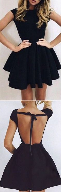 New Arrival Black Homecoming Dress,Short Homecoming Dresses,Backless Prom Dress,Sexy Prom Gown,Short/Mini Prom Dress,Homecoming Dress,HY78