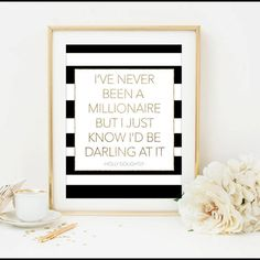 breakfast at tiffany's quote i've never been a by Designsbybiancab