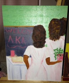 Welcome AKA painted by Ingrid 2014 oil on canvas board