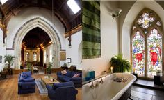 Church renovated into a home