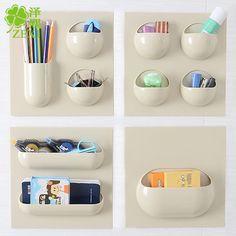 Bath Supplies Shower Shelf Plastic Suction Cup Bathroom Kitchen Corner Make-up Storage Rack Organizer 1grid/2grid/3grid/4grid