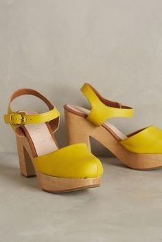 Rachel Comey Dekalb Clogs Yellow 7 Wedges