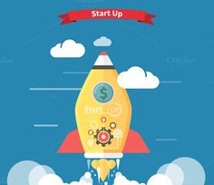 Start up Rocket by robuart on @creativemarket
