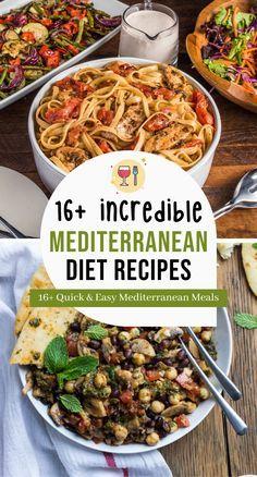 Easy Mediterranean Diet Recipes, Mediterranean Dishes, Healthy Eating Habits, Clean Eating Recipes, Healthy Living, Healthy Food Options, Good Healthy Recipes, Mediterrean Recipes, Diet Meal Plans