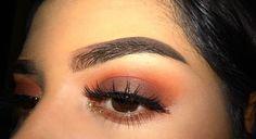 Ludic Life ☼ https://www.pinterest.com.au/ludiclife/ makeup, eyeshadow, peach, eyebrows