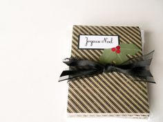 Christmas Cards  Joyeux Noel Holiday Cards Handmade by newnanc, $24.00