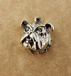 Sterling silver Bulldog head charm UGA Dawgs by celtictreasures
