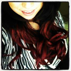 My black and red ombre hair