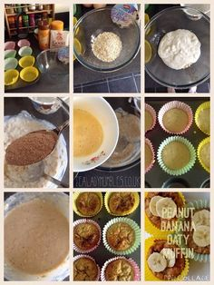 Peanut Hottie Recipe – Peanut Banana Oaty Muffins [low syn slimming world] Slimming Eats, Slimming World Recipes, Slimming Word, Low Fat Breakfast, Breakfast For Kids, Cooking Ingredients, Cooking Recipes, Slimming World Desserts, Low Fat Snacks