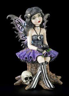 Gothic Elfen Figur - Little Shadows - Twila | Elfen | Figuren | Dekoration | Gothic-Shop | www.figuren-shop.de