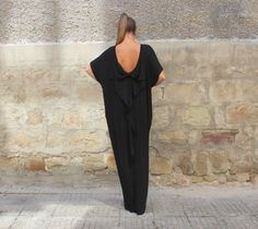 Black backless elegant maxi party evening di cherryblossomsdress