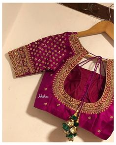 Cutwork Blouse Designs, Wedding Saree Blouse Designs, Simple Blouse Designs, Stylish Blouse Design, Blouse Back Neck Designs, Wedding Sarees, Wedding Blouses, Pattu Saree Blouse Designs, Lehenga Blouse
