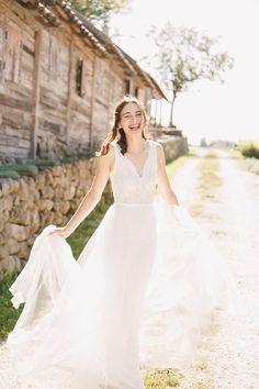 We are Peter and Ivana Miller Bridal Poses, Bride Portrait, One Shoulder Wedding Dress, Destination Wedding, Culture, Wedding Dresses, Unique, Brides, Inspiration