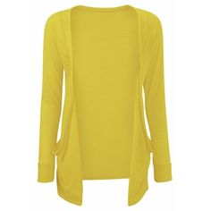 Yellow Boyfriend Cardigan Drop Pocket - Amazon (48 NOK) ❤ liked on Polyvore featuring tops, cardigans, sweaters, jackets, shirts, yellow boyfriend cardigan, pocket cardigan, yellow cardigan, boyfriend top and pocket tops