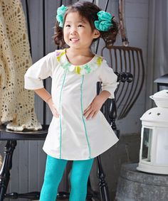 A Peter Pan collar adds classic charm to the smooth A-line silhouette, and soft cotton keeps it comfy. Toddler Girl Dresses, Toddler Girls, Flower Girl Dresses, Wendy Dress, Great Deals, That Look, Ivory, Comfy, Summer Dresses