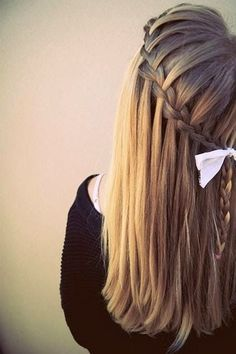 Simple side braid.