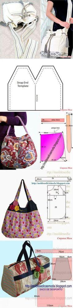 Las bolsas no es mucho. Diy Sac, Diy Handbag, Creation Couture, Denim Bag, Quilted Bag, Fabric Bags, Handmade Bags, Handmade Leather, Vintage Leather