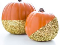 Make glitter-dipped pumpkins with this tutorial.