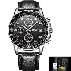 0ab9f94773d LIGE Watch Men Fashion Sport Quartz Clock Mens Watches Top Brand Luxury  Full Steel Business Waterproof Watches Relogio Masculino