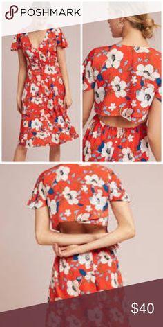 b73dfbf8e888 LONDON ROSE Regents Floral Midi Dress Beautiful floral silky dress Cute  open back