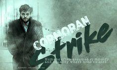 Tom Burke as Cormorman Strike - graphic by me (cathelms)