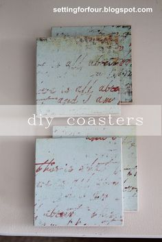 DIY Drink Coasters from Setting for Four #diy #tutorial