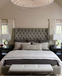 The Chic Technique: Grey and White Bedroom. Napa Chic By Michelle Wenitsky Interior Design