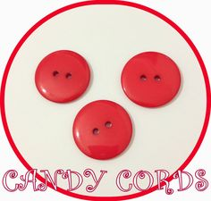 15 Large RED 22mm Round Buttons BUY 3 GET 1 FREE Sewing Knitting Acrylic