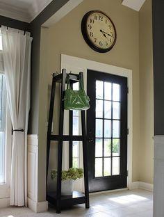 how to turn a regular solid front door into a full glass front door.