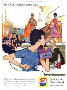 design-is-fine:  Be sociable ads, 1959. Illustrator 1 Lynn...
