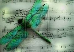 my 2 loves....a dragonfly & music :)