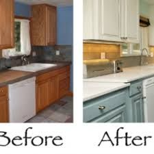 Excellent refinishing oak kitchen cabinets before and after ...