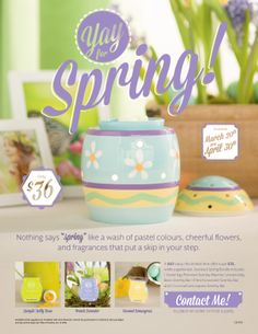 CANADA FLIER - Scentsy springtime special! Contact your Consultant to order!!