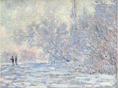 Claude Monet, Manet, Monet Paintings, Landscape Paintings, Landscape Art, Artist Monet, Art Français, Winter Painting, Oil Painting Reproductions